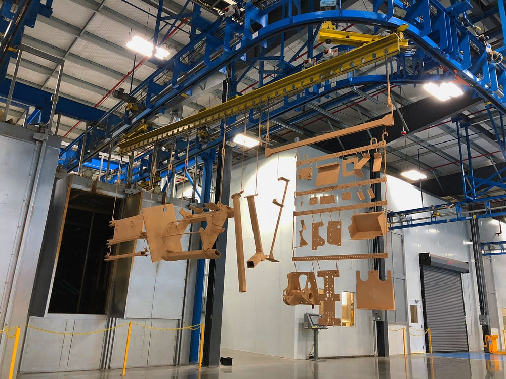 Conveyor System för ytbehandlingsindustrin