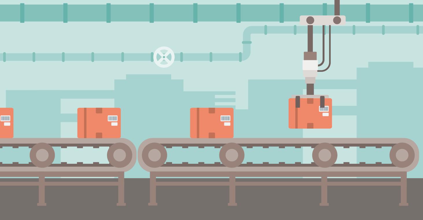 Illustration of conveyor belt